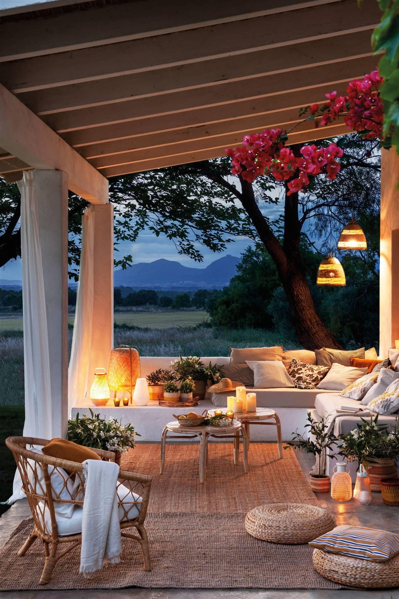 ideas para iluminar tu jardin con luces