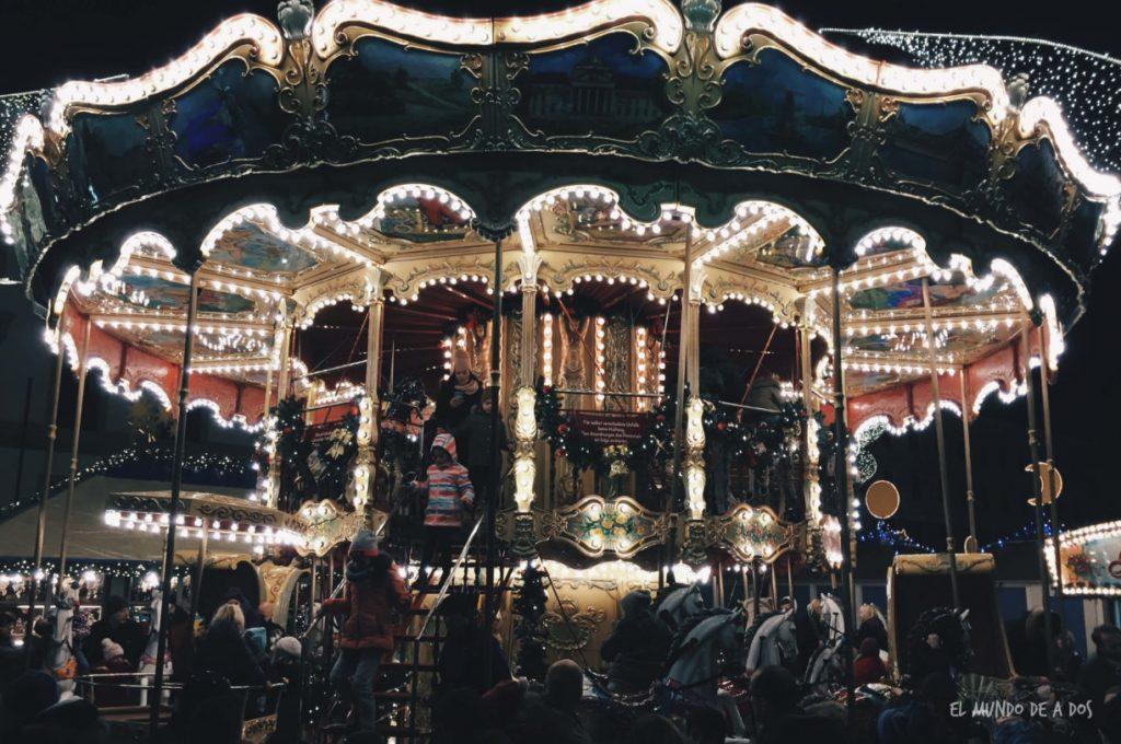 mercados de navidad en alemania. carrusel