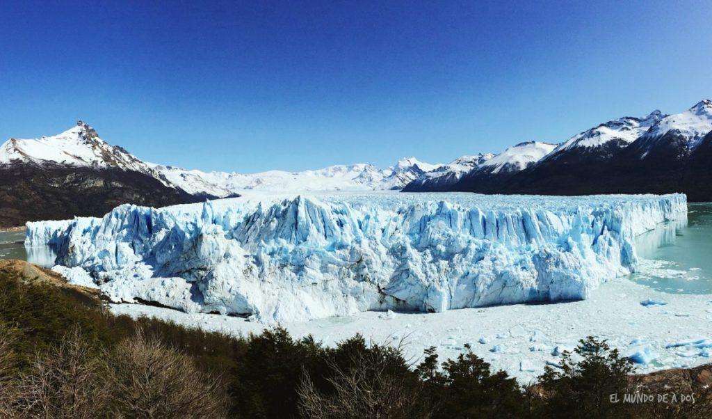 Panorámica del Glaciar Perito Moreno. Viajar a El Calafate