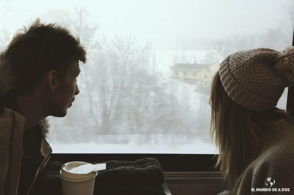 El mundo de a dos. Hallstatt en invierno