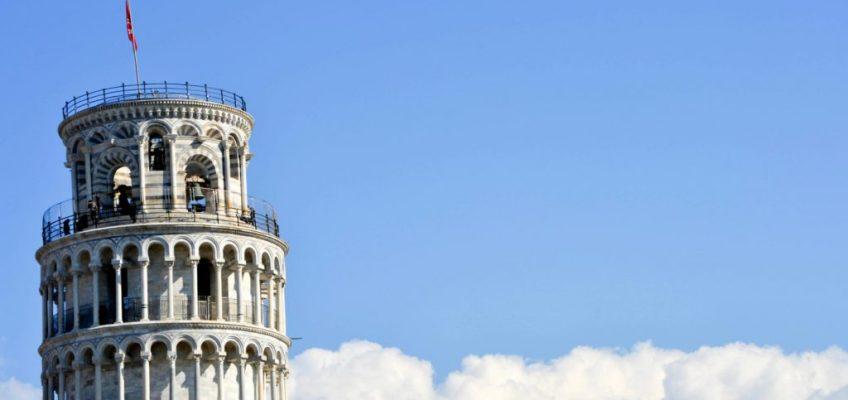 Torre de Pisa tope. Plaza de los milagros