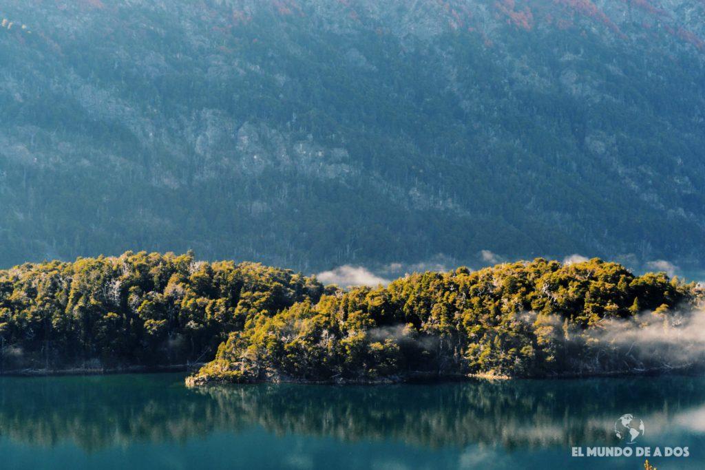 Isla Corazón del lago Mascardi. Excursion Cerro Tronador