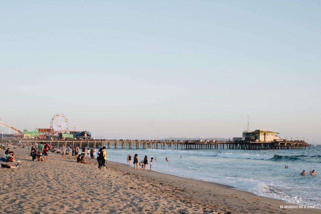 Santa Monica Pier. Lugares para visitar en Los Ángeles California