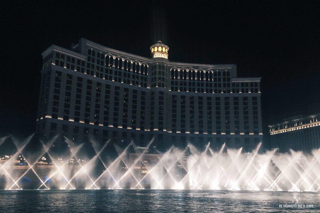 Las fuentes del Bellagio. Las Vegas en un día