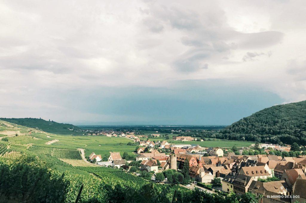 Vista desde el castillo. Kaysersberg Francia