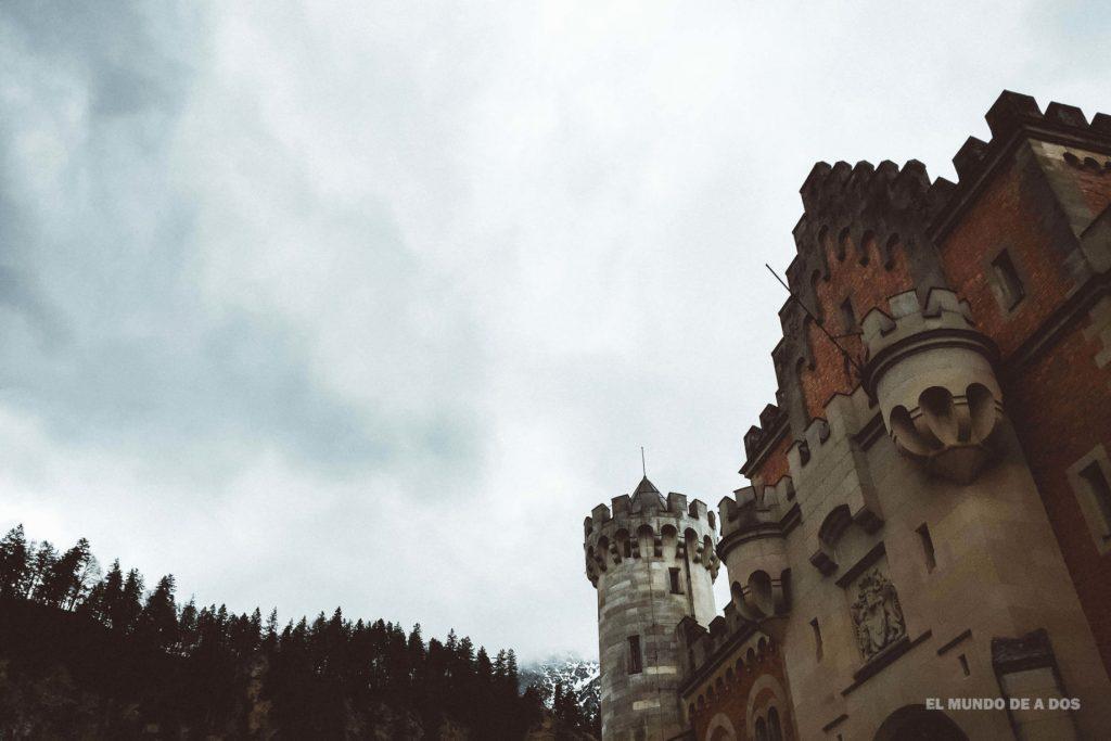 Día frío en Neuschwanstein. Neuschwanstein, castillo del rey loco