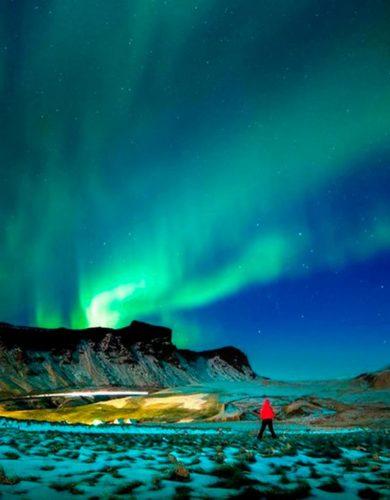@gongranja con las luces del norte. Fotografiar la Aurora Boreal en Islandia