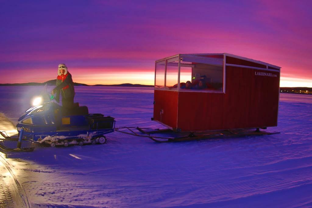 Lake Inari Mobile Cabins. Lugares curiosos para dormir en Laponia.