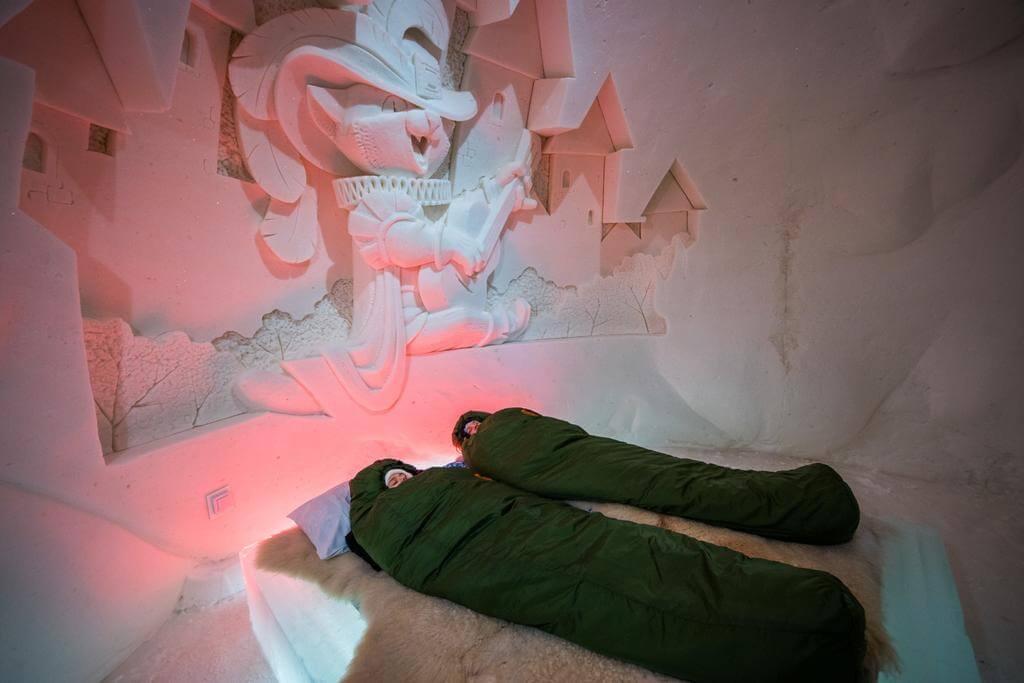 Lumithotelli en Kemi. Lugares curiosos para dormir en Laponia.
