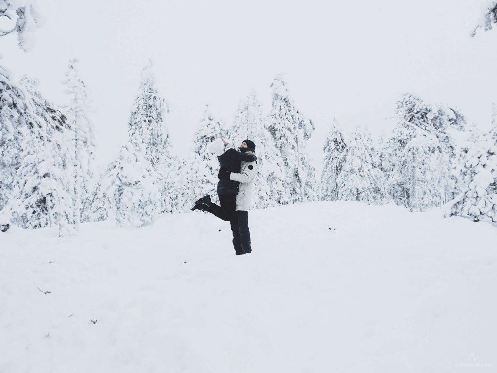 De blanco. Viajar a Laponia en invierno