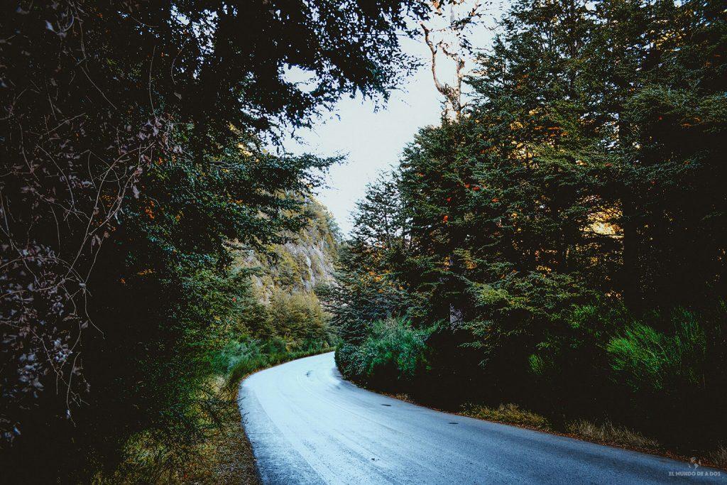 Ruta 77 en el Circuito Chico en Bariloche