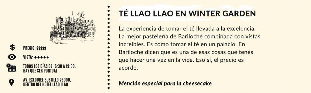 Té Llao Llao - Cuadro resumen