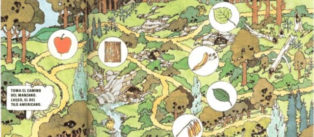 El juego del camino entre árboles