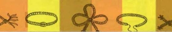 Cinturones y corbatas trenzadas
