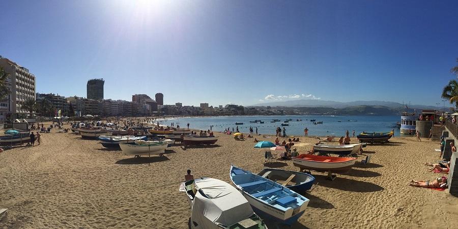 Planes en Gran Canaria con niños - Playa de Las Canteras