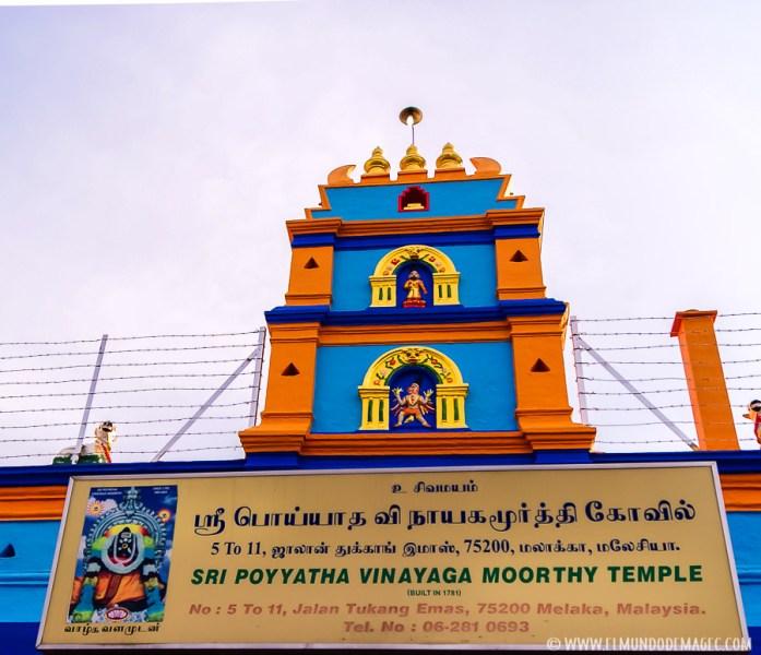 Templo hinduista Sri Poyatha Vinayagar Moorthi de Melaka