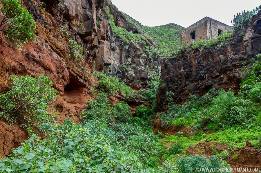 Senderismo en Gran Canaria - Final del cauce del barranco