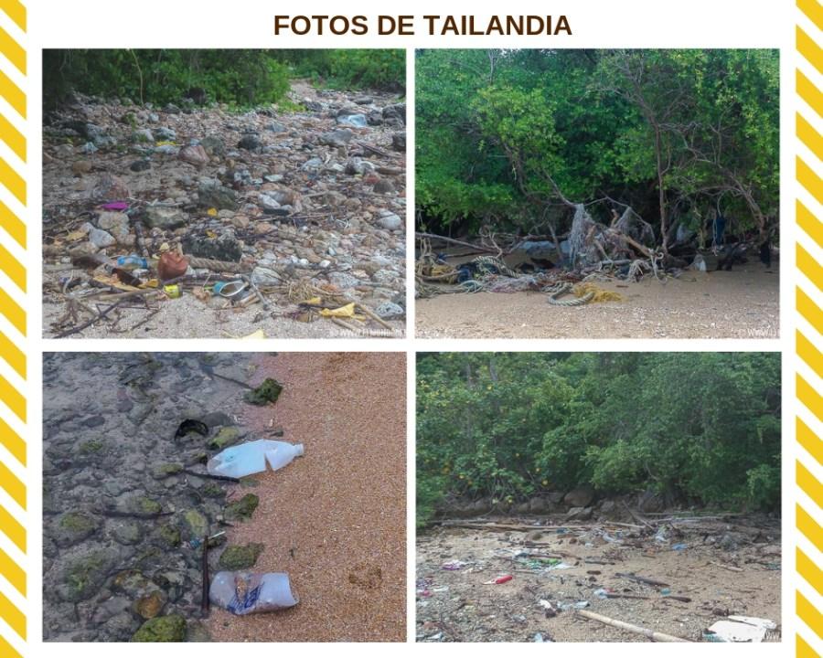 Plástico y basura en la isla de Koh Phangan