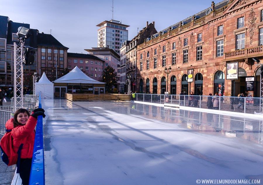 Pista de patinaje sobre hielo en Estrasburgo