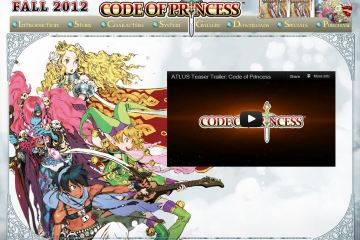 "Atlus: ""Code pf Princess"" [3DS] - Site and Trailer"
