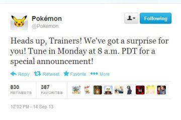 The Pokémon Company: Special Surprise Announcement