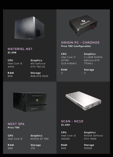 Steam Machines @ CES 2014 - Materiel.net, Origin PC, Next Spa, Scan