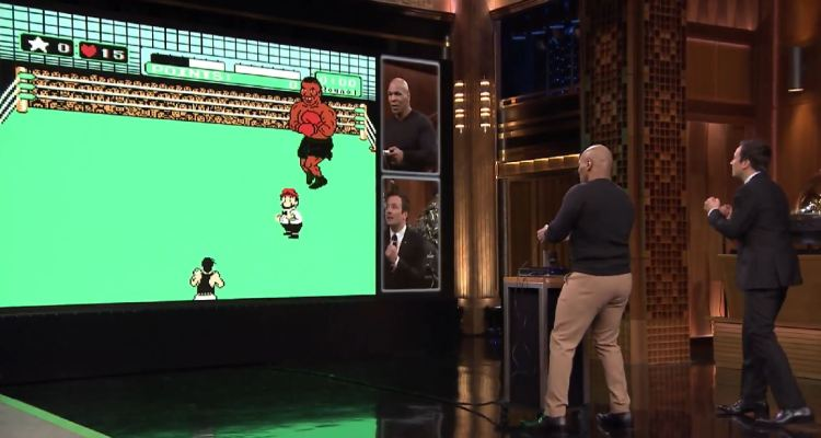 The Late Show with Jimmy Fallon - Mike Tyson plays Punch-Out!!