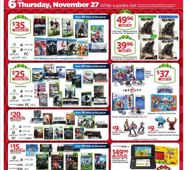 Walmart: 2014 Black Friday - Games