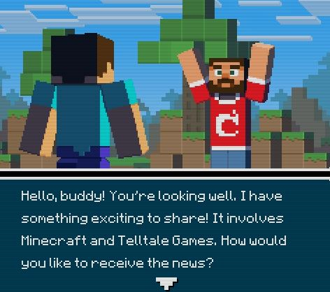 """Info Quest 2"" - About ""Minecraft: Story Mode"""