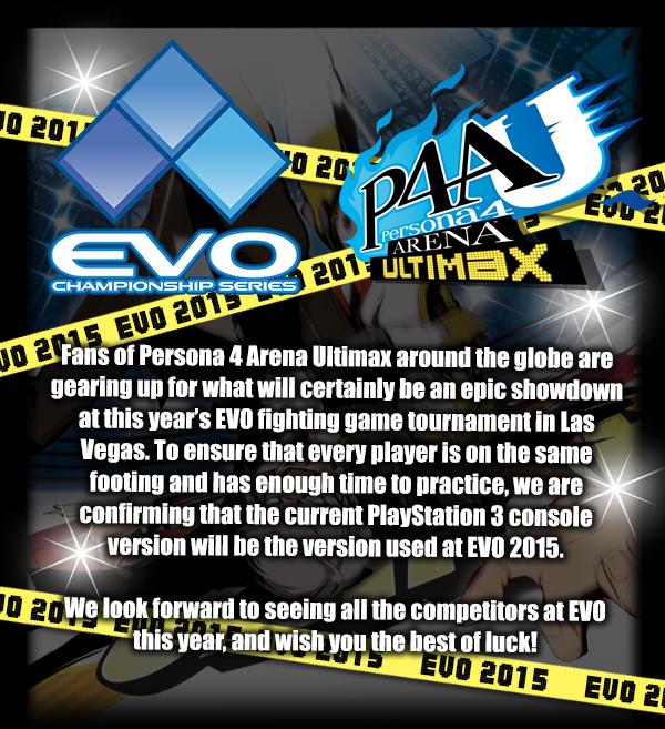 Persona 4 Arena Ultimax en EVO 2015