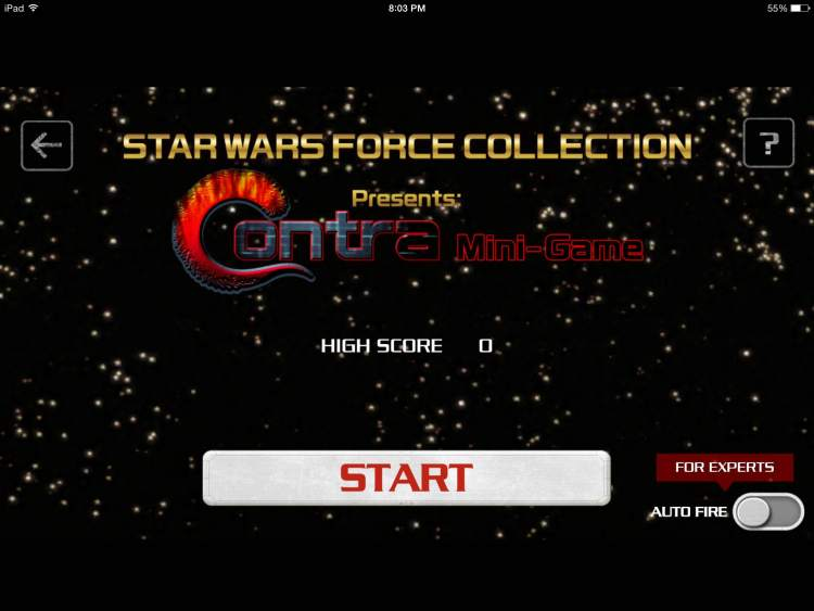Contra-style mini-game available for Star Wars: Force Collection