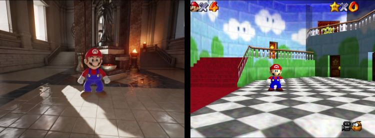 How Mario looks like in an Unreal Engine 4 game