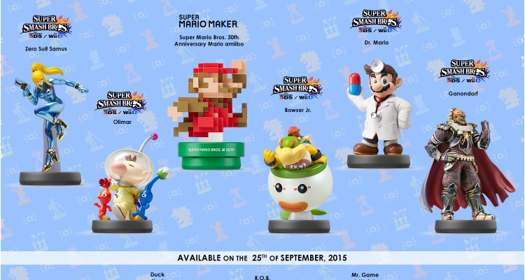 New amiibo figures coming in September