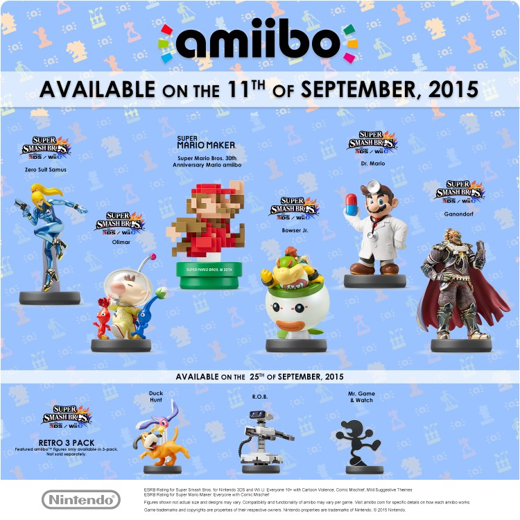 Nuevas figuras amiibo llegarán en septiembre