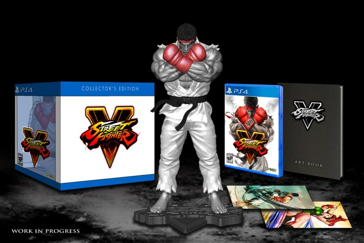 Street Fighter V Collector's Edition - Box Art - Work in Progress