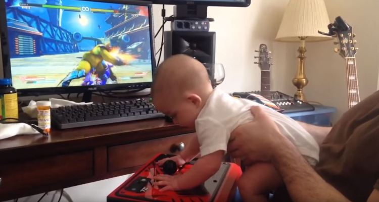 Six-month-old baby beats Birdie's Story Mode in Street Fighter V