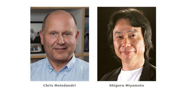 Chris Meledandri, Founder and CEO of Illumination and Shigeru Miyamoto, Representative Director, Fellow of Nintendo