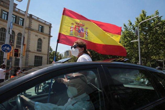 EL NACIONAL manifestacio vox cotxe barcelona - sergi alcazar