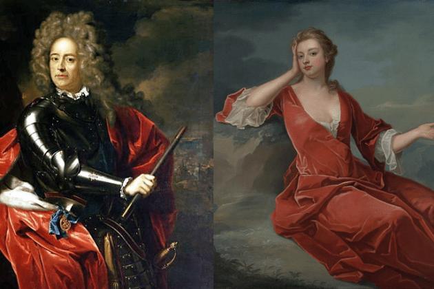 Anna Stuart. Lord i Lady Marlborough i Churchill