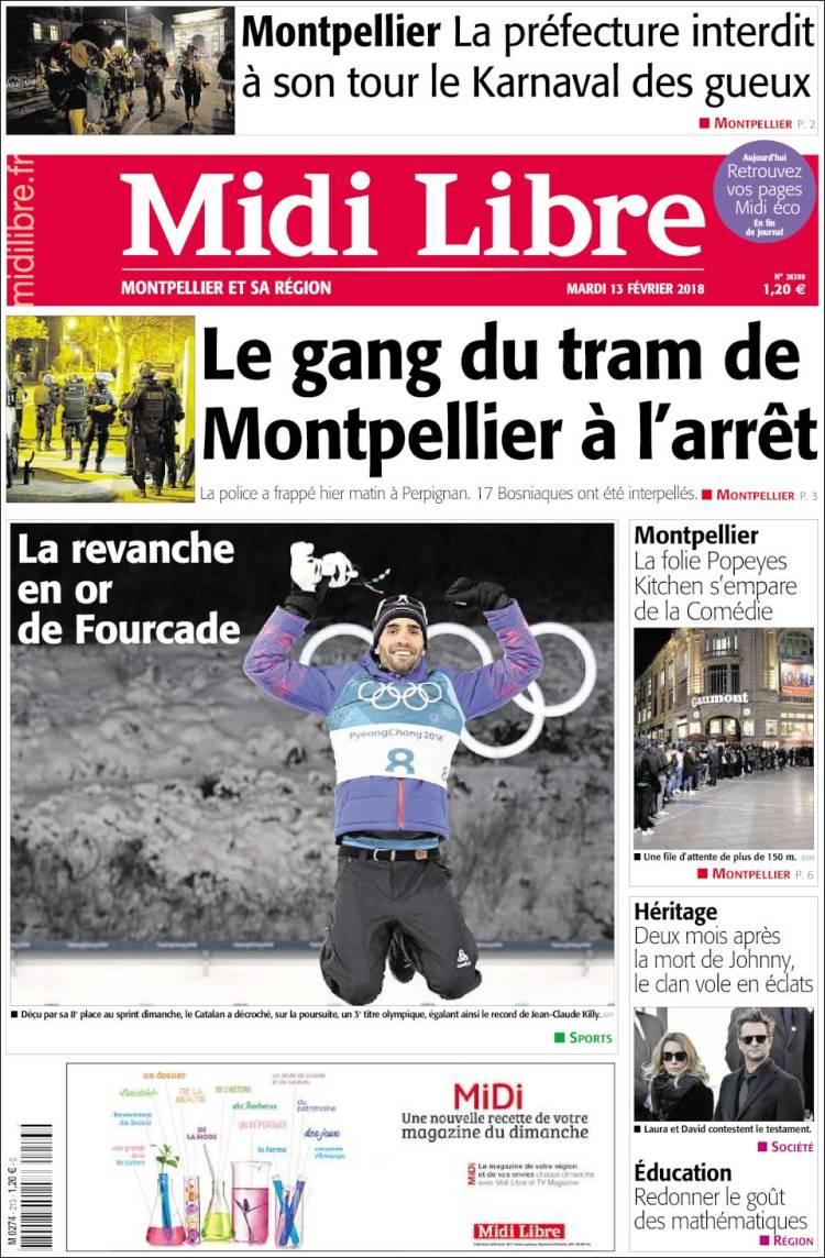Midi Libre Portada 13 02 2018