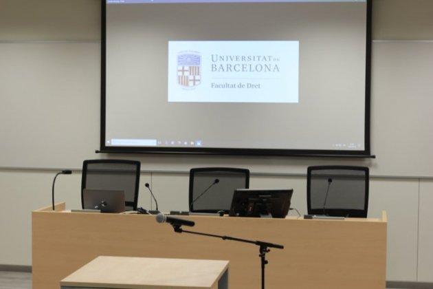aula de simulació de judicis UB @UniBarcelona
