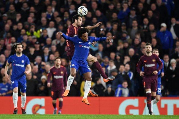 Busquets Willian Chelsea Barça Champions Efe