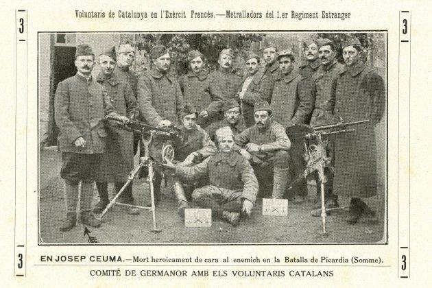 Voluntaris allistats. Voluntaris catalans allistats a l'exercit francès, al regiment d'estrangers. © de la fotografia: ANC
