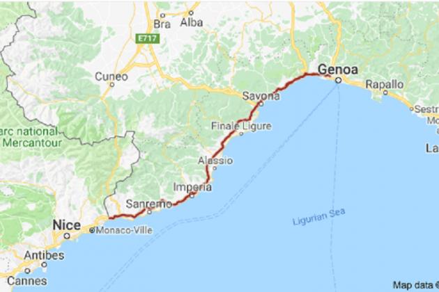 a 10 autopista italia genova googlemaps