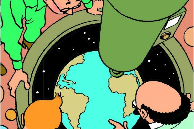 i aterrizaje en la luna i pagina 24 c herge moulinsart 2018