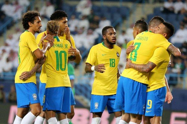 Brasil celebració gol Arabia Saudita EFE