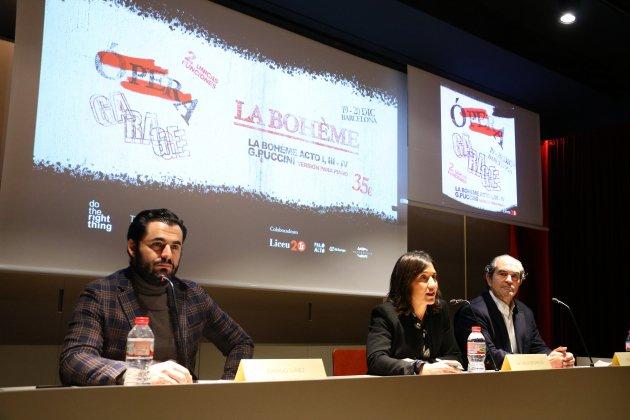 Presentació d''Ópera Garage' per part dels fundadors al Liceu. Mar Vila