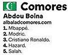 Comores Votació Pilota d'Or 2018 Luka Modric