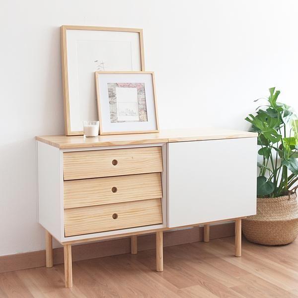 mueble para recibidor de estilo nórdico de slow deco