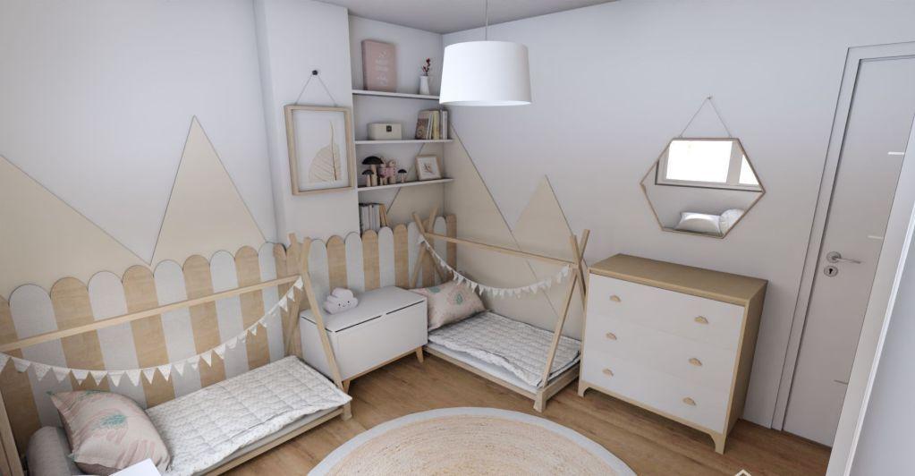 Habitacion estilo Montessori Mellizas  e